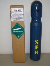 5 pound cylinder of SF6