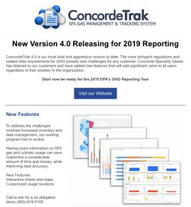 EPA Greenhouse Gas Reporting - ConcordeTrak SF6 Reporting Software