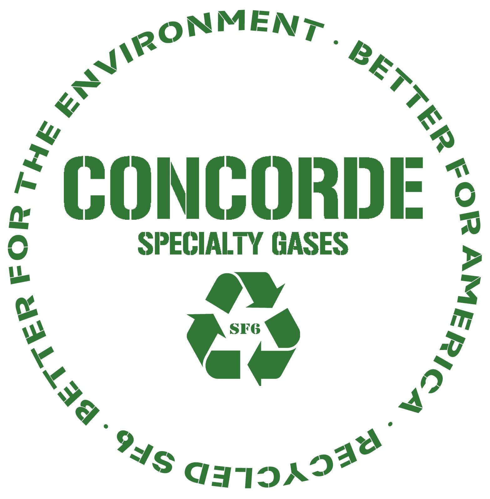 recycle sf6 gas logo via concorde specialty gases